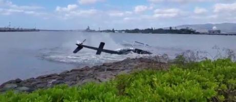 Helicopter Crash Pearl Harbor 2/18/16 10:15 am ORIGINAL Eyewitness