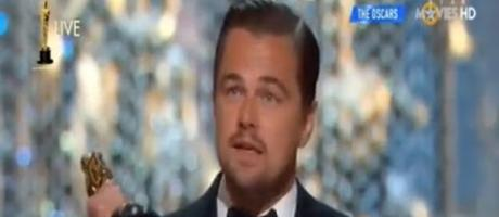 Live moment and speech of Leonardo DiCaprio Winning The Oscar 2016 HD