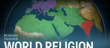 Animated map shows how religion spread around the world