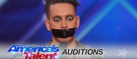 Tape Face: Strange Act Leaves the Audience Speechless - America's Got Talent 2016 Auditions