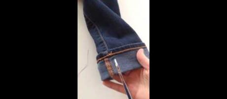 How To Hem Jeans Keeping The Orignal Hem