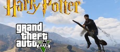 GTA 5 Mods - HARRY POTTER (Magic Wand + Broomstick)