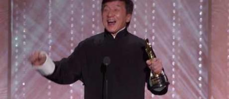 Jackie Chan receives an Honorary Award at the 2016 Governors Awards
